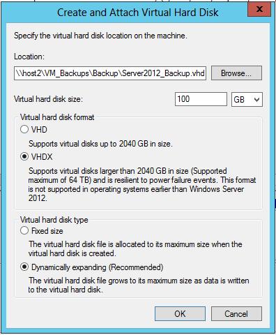 Windows 2012 Backup to a Virtual Hard Drive (VHD) » Xpert Notes