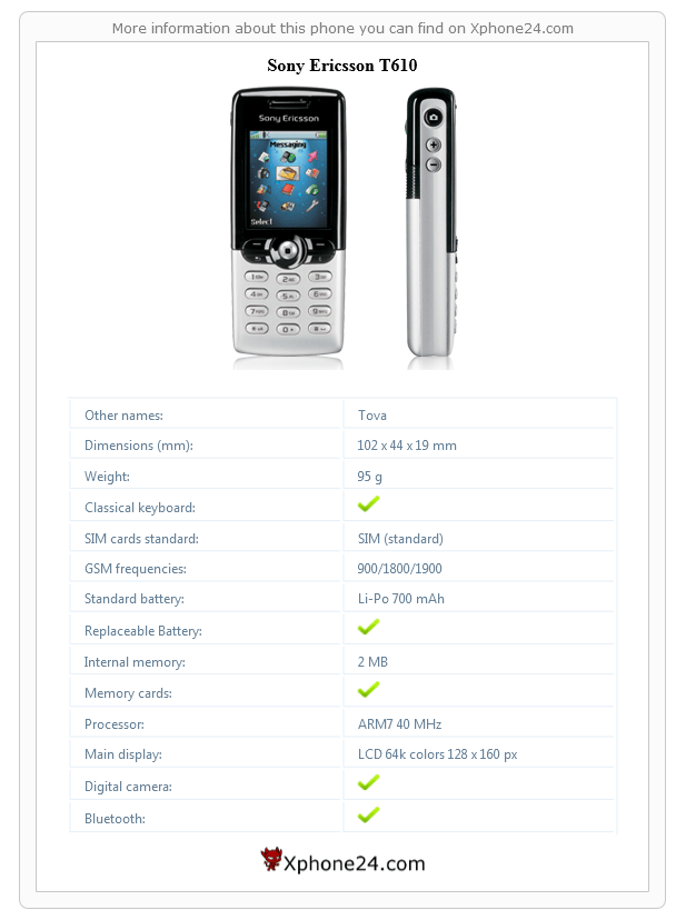 Sony Ericsson T610 Phone Gallery, price :: Xphone24.com (Tova)