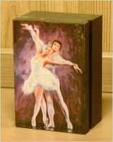Małe pudełko baletowe 7.5 cm x 11 cm x 5 cm