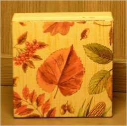 Pudełko jesienne 12.5 cm x 12 cm x 5 cm