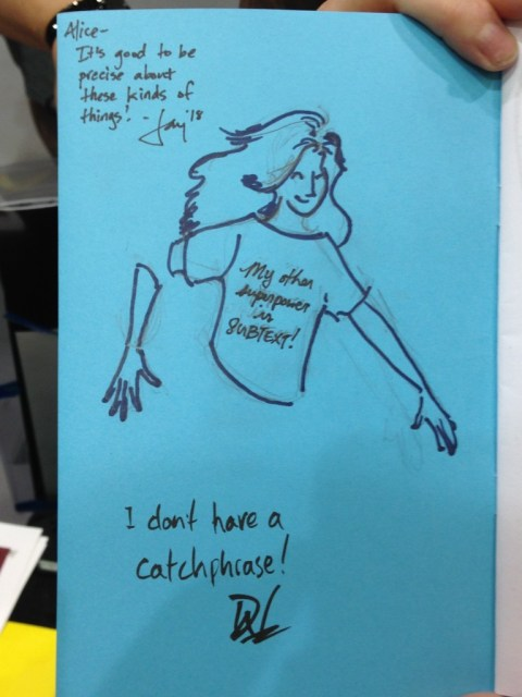 We did a BUNCH of bad X-Men sketches, but this matched set, in someone's zine, are my favorites of the day: My Kitty...