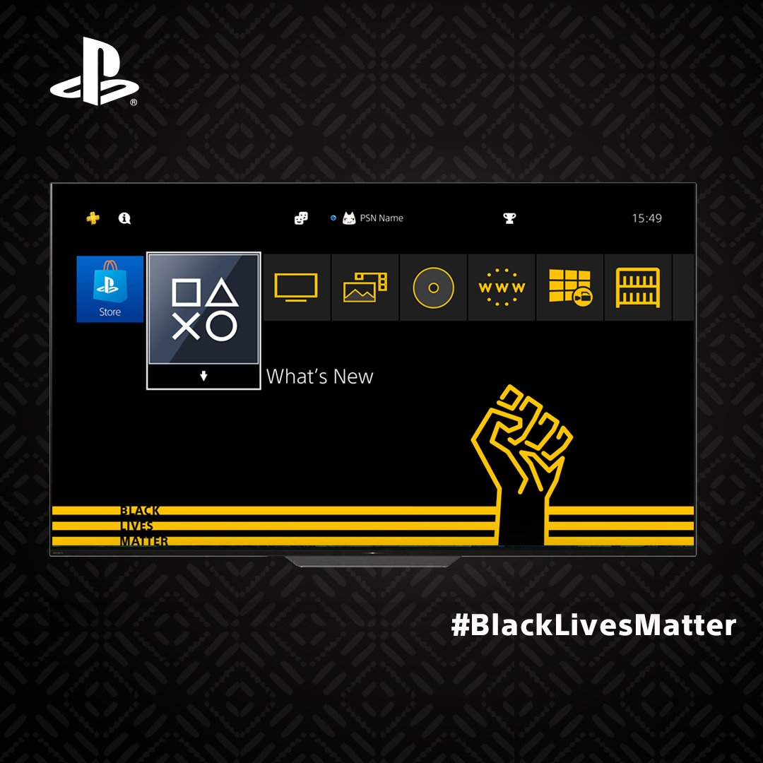 PlayStation Releases Free Black Lives Matter Theme for PS4