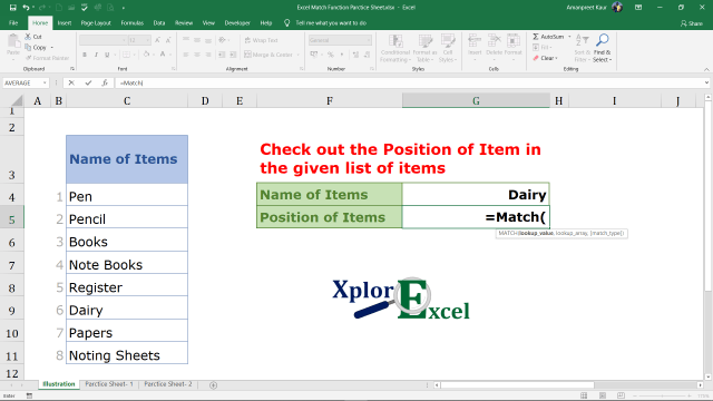 Explanation of Match Function in Excel (2)