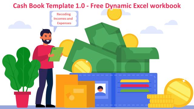 Cash Book Template 1.0 - Free Dynamic Excel workbook-min