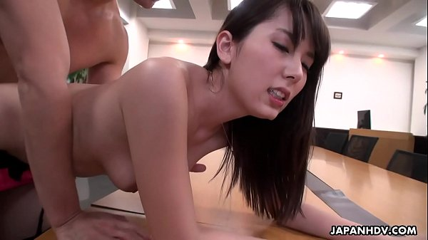 Handsome office gal Yui Hatano pussy drilled