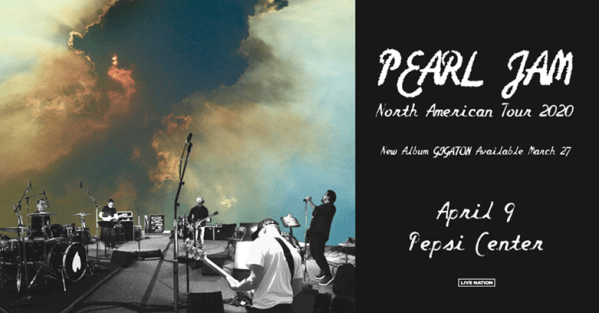 Pearl Jam Comes to the Pepsi Center April 9th!
