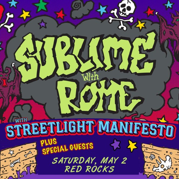 Sublime with Rome Comes to Red Rocks May 2nd!