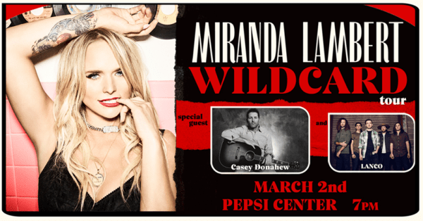 Miranda Lambert at the Pepsi Center March 2