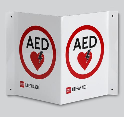 Xpozed - Skylt AED ILCOR Tältmodell