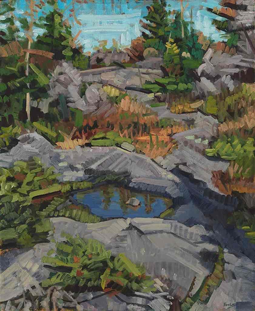 John Harris - Bird Bath, 2009 Oil on Canvas 29x24