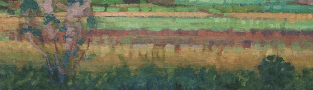 John Harris - Spring Fields 2011, 6x20 Oil on Linen