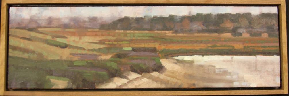 John Harris - Maine lakeside scene - Dimensions: 7x20