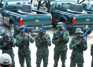 Guyana, army, equipped