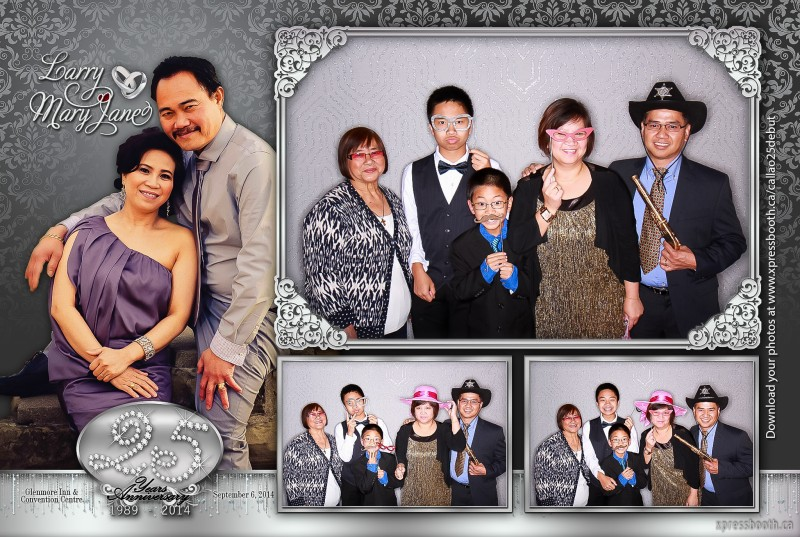 Double Celebration with 2 Photo Booth Layouts  Xpressbooth Photo Booth Calgary