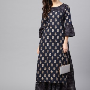 Embroidered Linen Kurti with Palazzo