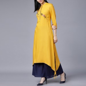Yellow Linen Kurti