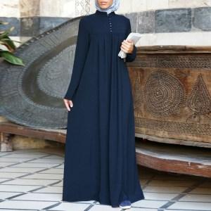 Navy Blue Abaya