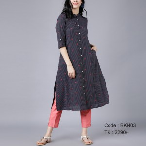 Cotton Stripe Kurti