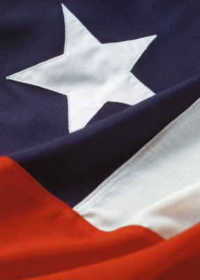 Chilean flag --- Image by © Royalty-Free/Corbis