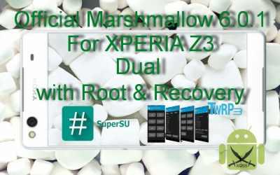 الروم العربي الرسمي مارشميلو 6.0.1 لجهاز XPERIA Z3 Dual طراز D6633 [مع الروت والريكفري]
