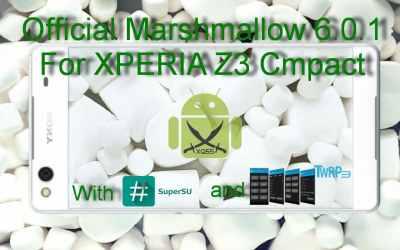 الروم العربي الرسمي مارشميلو 6.0.1 لجهاز XPERIA Z3 Compact طراز D5803 [مع الروت والريكفري]