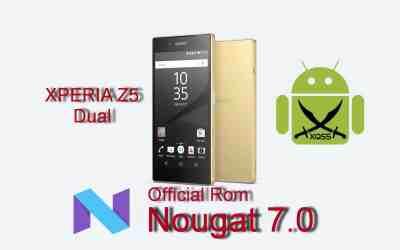 الروم العربي الرسمي Nougat 7.0 لجهاز XPERIA Z5 Dual طراز E6633