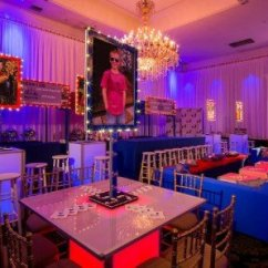 Blue Lounge Chair Cushions Wood Desk On Wheels Bar Mitzvah | X-quisite Events