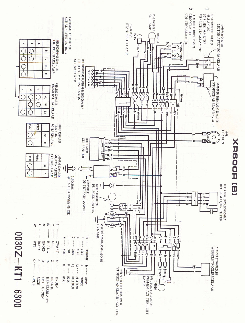 medium resolution of xl600r wiring diagram wiring diagram 1986 honda xl600r wiring diagram honda xl600r wiring diagram