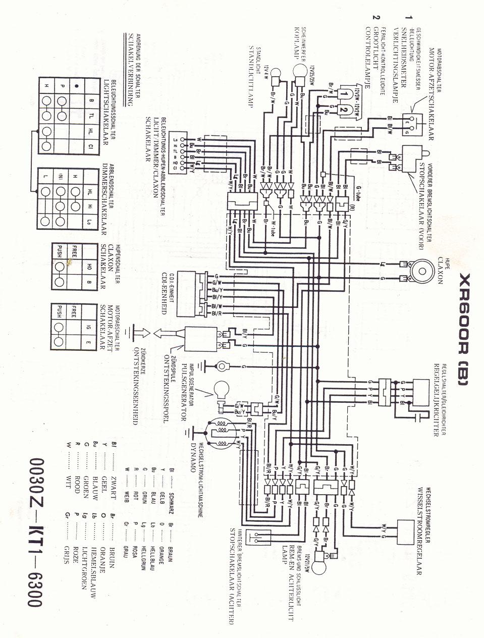 hight resolution of xl600r wiring diagram wiring diagram 1986 honda xl600r wiring diagram honda xl600r wiring diagram