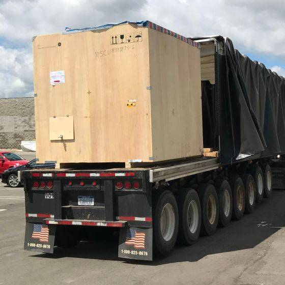 X-Ray scanner on the truck