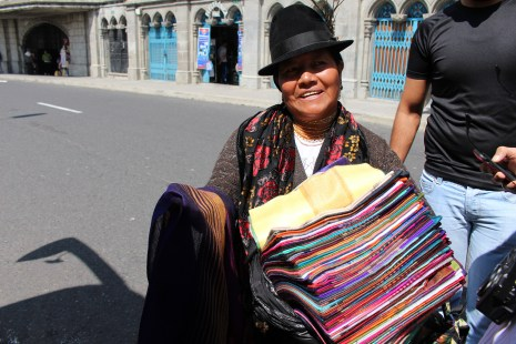 This native woman was trying to sell us some scarfs :)