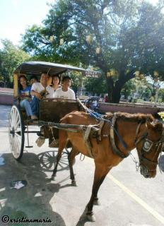 ...on the cobblestone streets of Vigan.