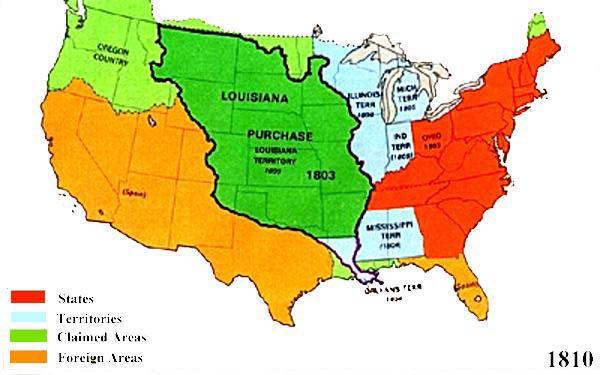US Territorial Maps 1810