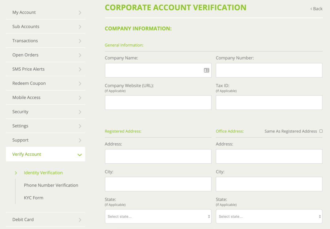 bitstamp corporate account