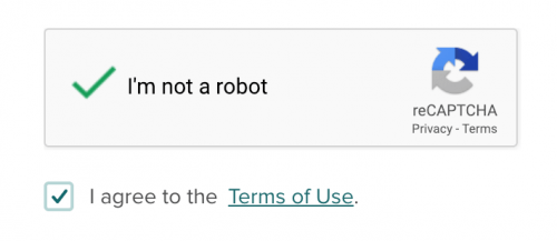ReCaptcha for Poloniex account sign up page.