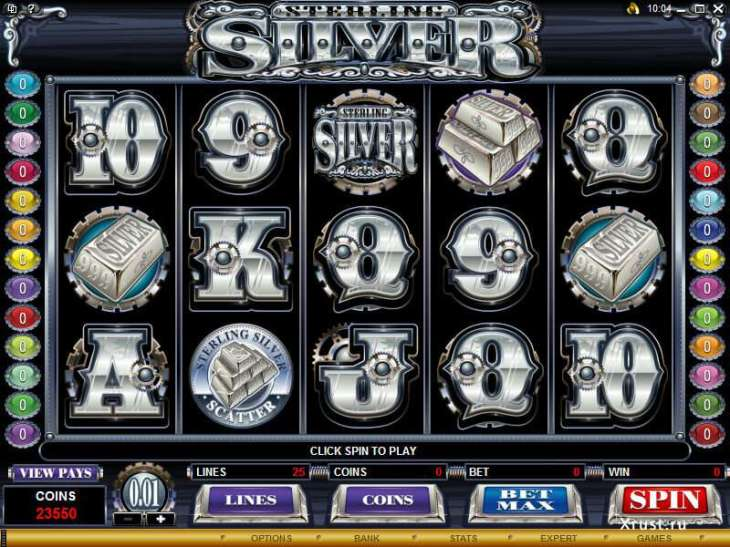Игровой автомат Sterling Silver 3D в онлайн казино Вулкан Гранд