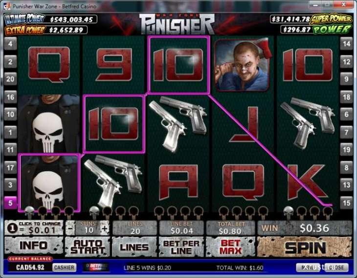 Punisher War Zone в казино Вулкан Платинум
