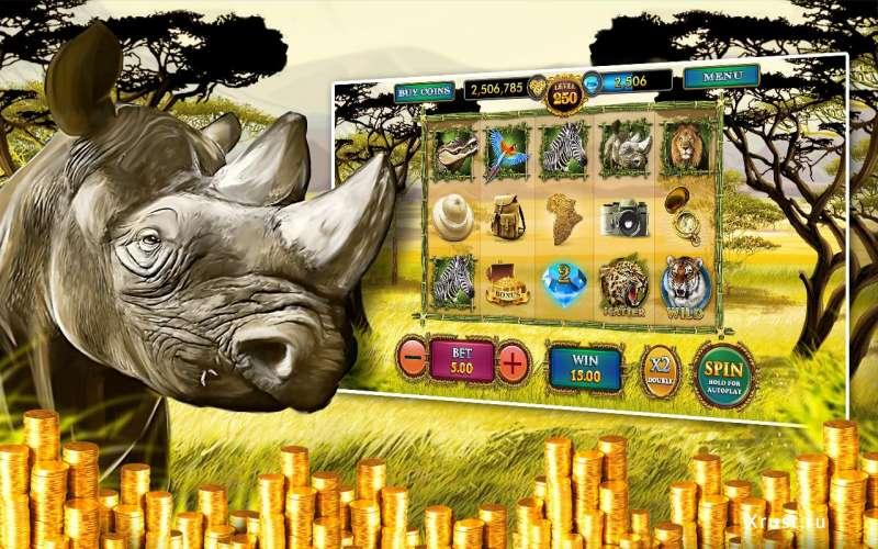 Игровой автомат «Сафари» в казино Вулкан Платинум на деньги