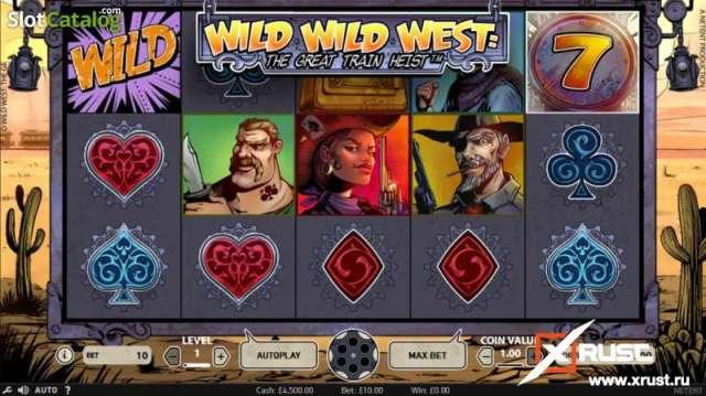 Игровой автомат Wild West в казино Вулкан