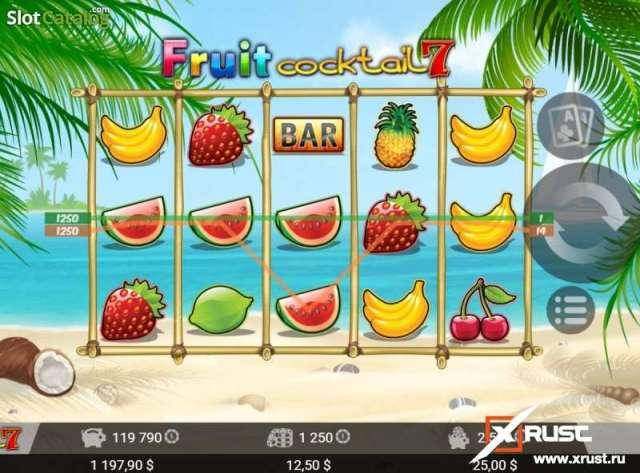 Fruit Cocktail. Классический игровой автомат в казино Вулкан