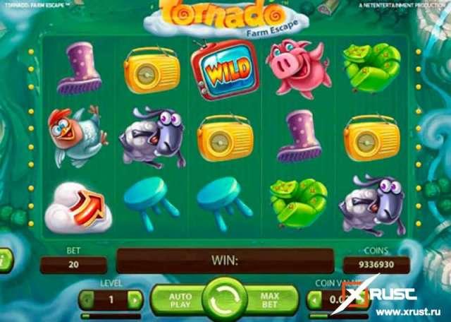 Игровой автомат Торнадо в казино Вулкан