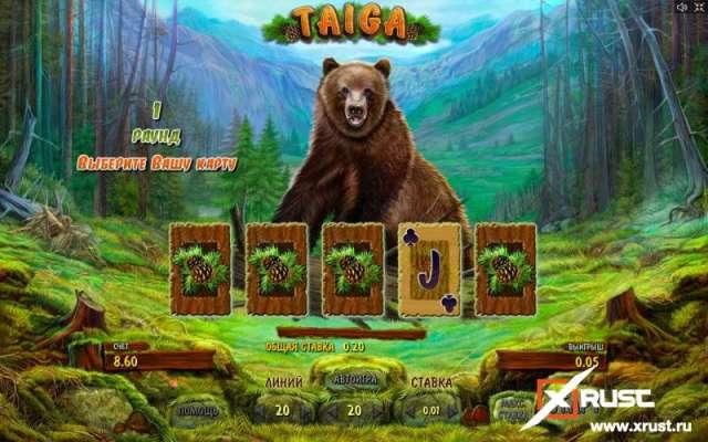 Игровой автомат Тайга в казино Вулкан