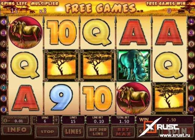 Игровой автомат Safari Heat в казино Spin City