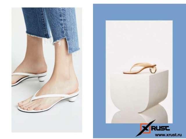 Самая модная обувь этого сезона — вьетнамки на каблуке