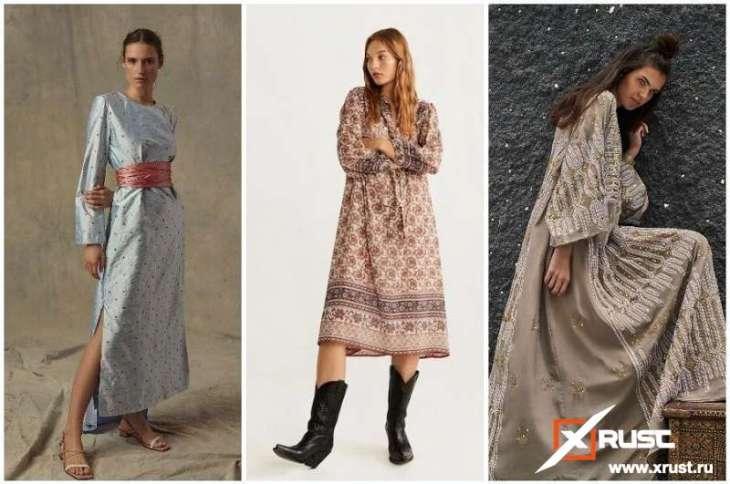 Снова в моде платье-кафтан