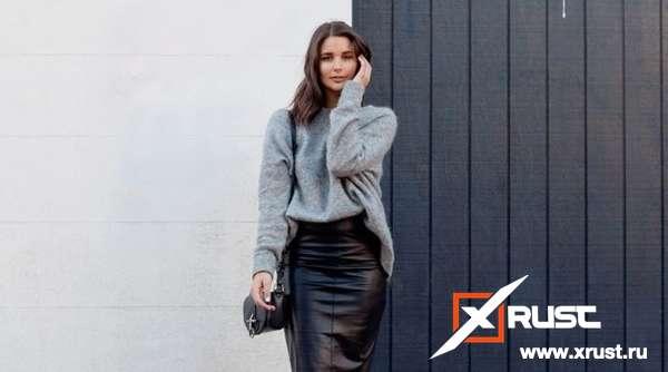 Кожаные юбки – тренд сезона