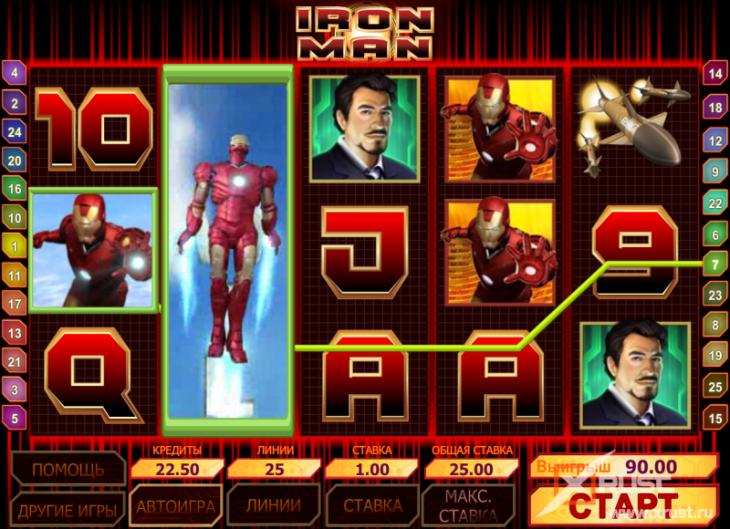 Казино Вулкан 24 и игровые автоматы Iron Man