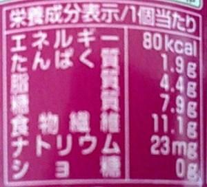 80kcalアイス栄養成分表