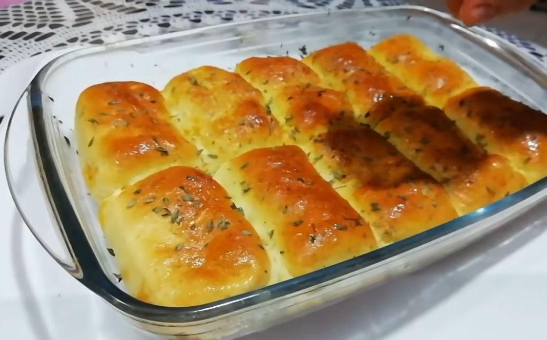 Γεμιστα ψωμάκια με κοτόπουλο και ντοματα