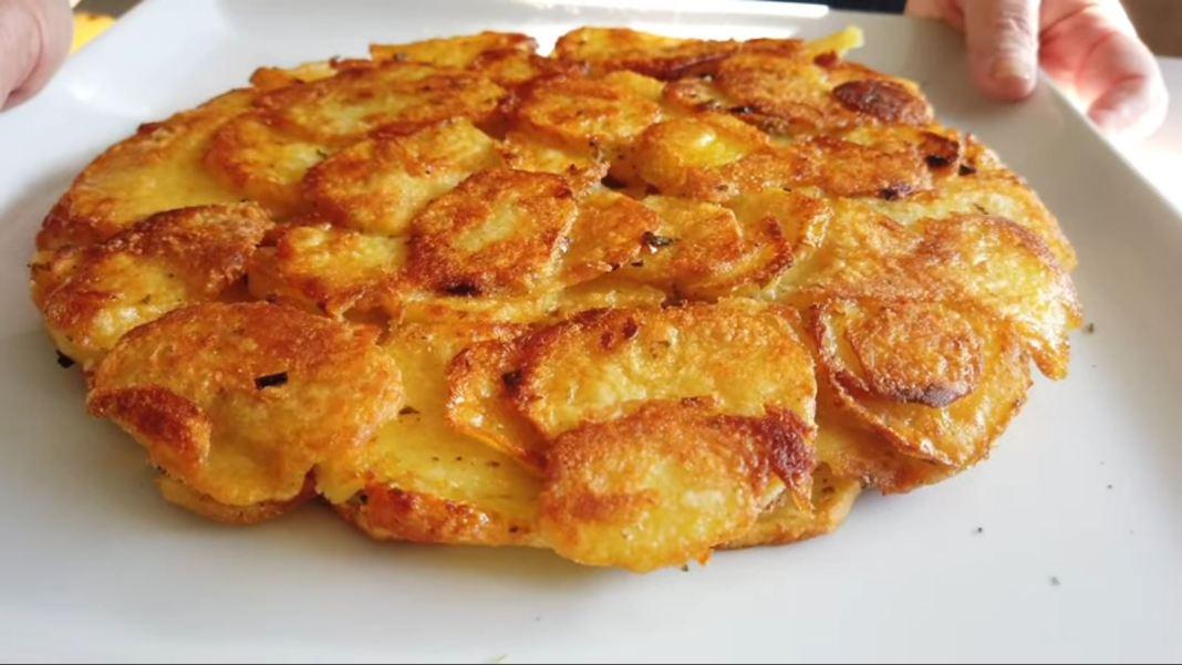 Πατάτες τηγανιτές ομελέτα